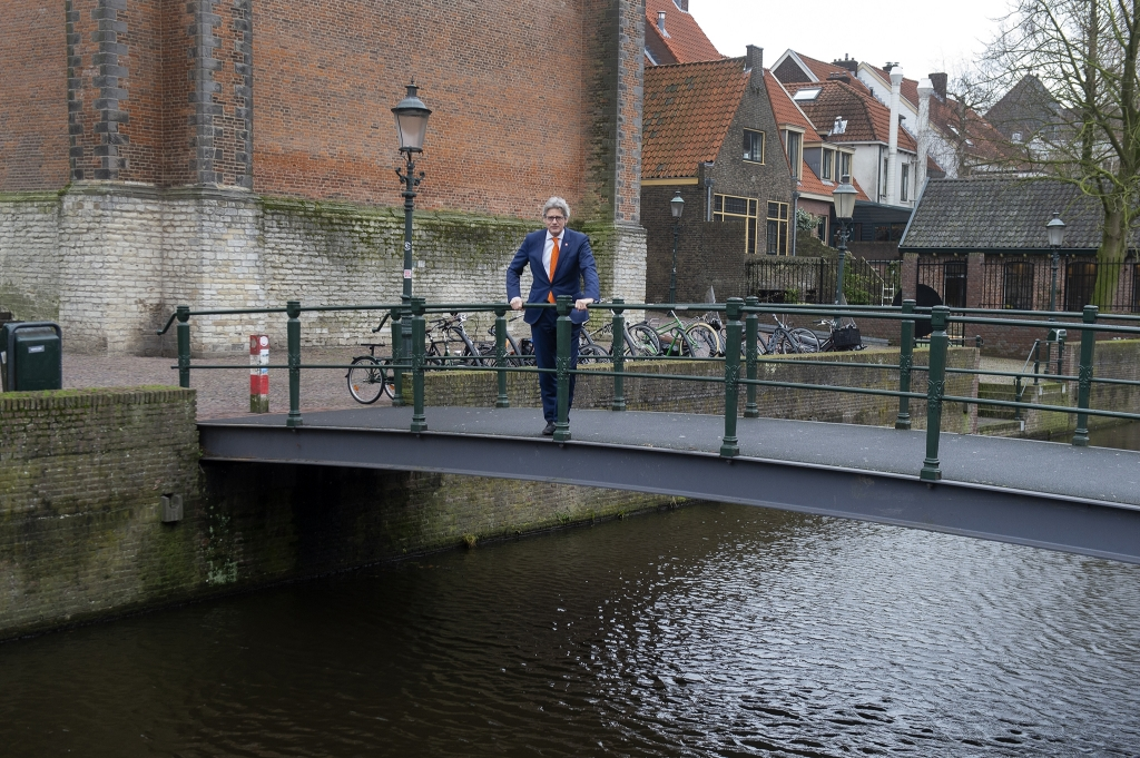 """,,De vraag beantwoorden wat dit allemaal voor de stad betekent, kan ik nog niet"""", zegt burgemeerster Lucas Bolsius.  Foto Rinus van Denderen © BDU media"""