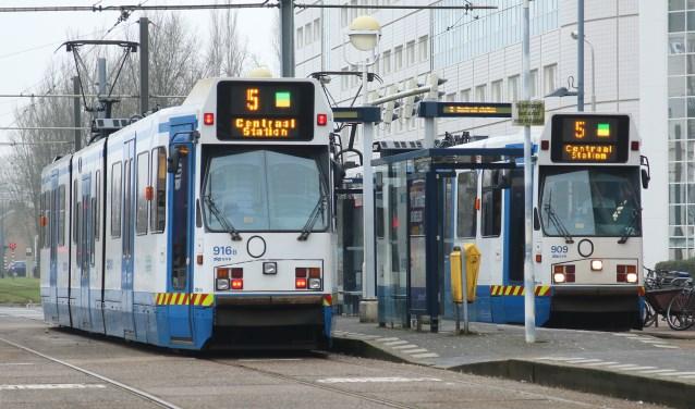 Tram 5 blijft tijdens het werk aan het spoor en na het ombouwen daarvan in Amstelveen rijden.