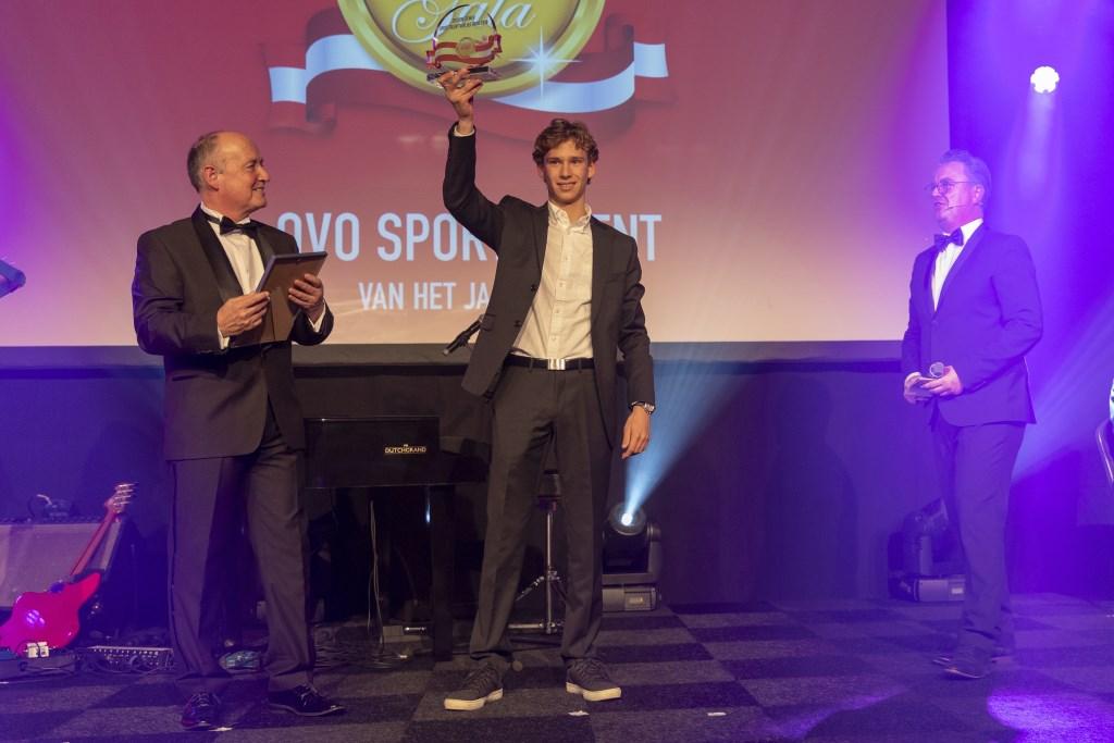 Jochem Ziemer werd verkozen tot Sporttalent van het Jaar. JAN NOORLANDT © BDU Media