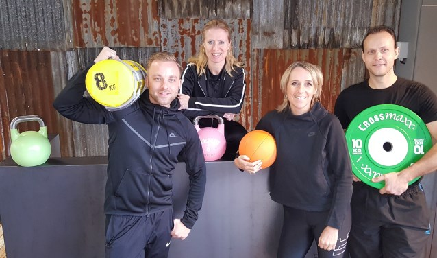 Het team van Personal Fitness Soest, vanaf links: Ferry Arbouw, Silvana Bancken, Eline Delfos en Jaap van Dijk.