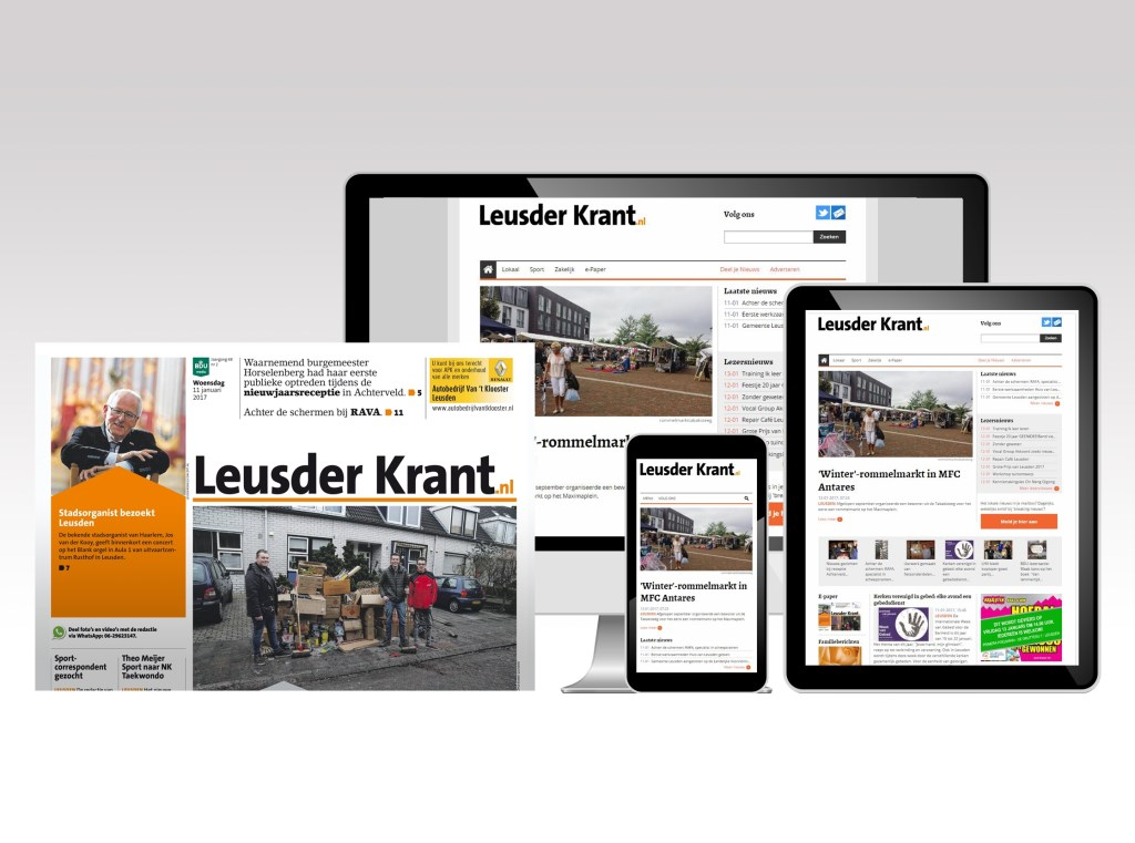 De Leusder Krant verschijnt allang niet meer alleen op papier.  Robert Klein © BDU media