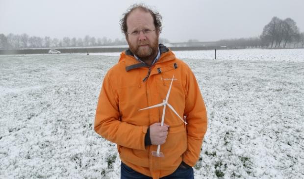 Al jaren is de Houtense ondernemer Ruben Berendts bezig met het realiseren van een windpark in het buitengebied van Houten