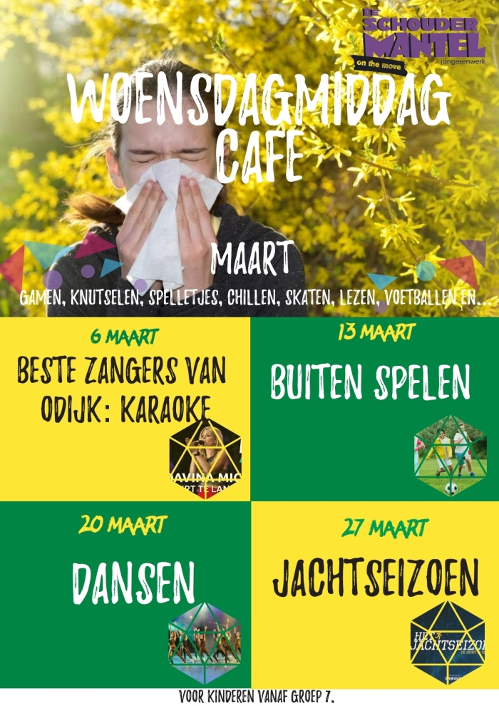 Elke woensdagmiddag is er café in De Schoudermantel