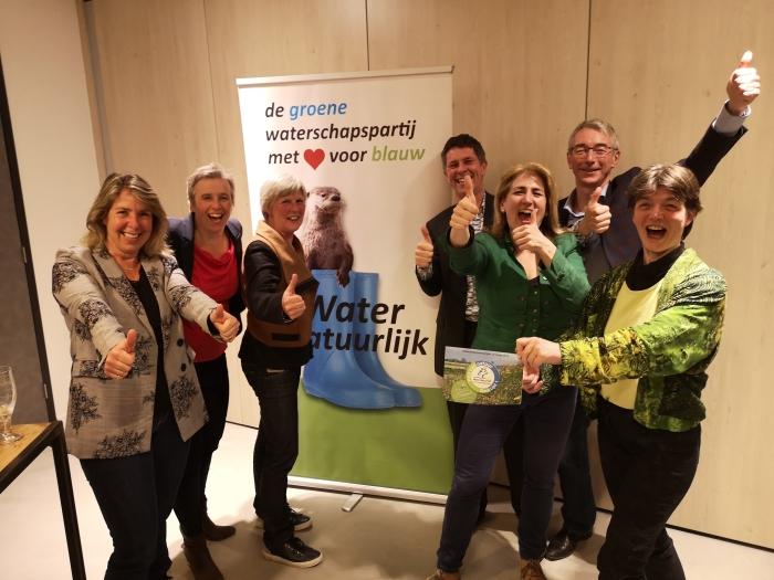 Blije fractieleden en campagneleider Water Natuurlijk-De Stichtse Rijnlanden