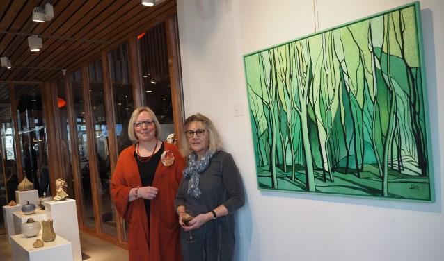 Kunstenaars Hanna van Ginkel en Marcella van de Vaart.
