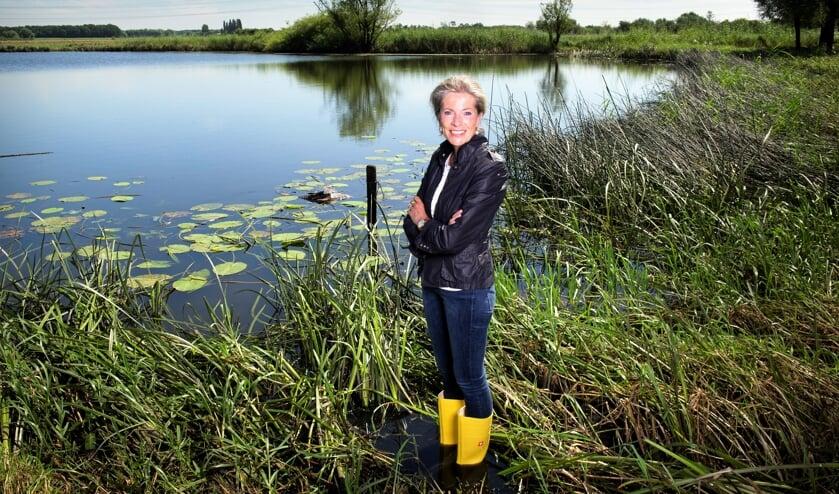 Dijkgraaf Tanja Klip-Martin van het Waterschap Vallei en Veluwe.