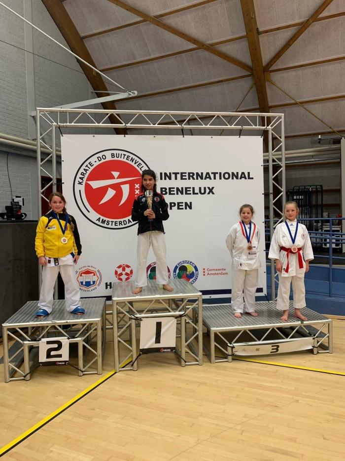 2e Plaats Ceyda Kutlu U10 +33 kg PR Kenamju Karate © BDU media