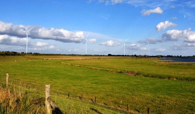<p>Visualisatie Windpark Goyerbrug vanaf de Lekdijk (nabij de afrit naar Schalkwijk)</p>