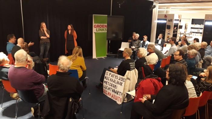 GroenLinks bijeenkomst in bibliotheek Stadshart Brenda de Kort © BDU media