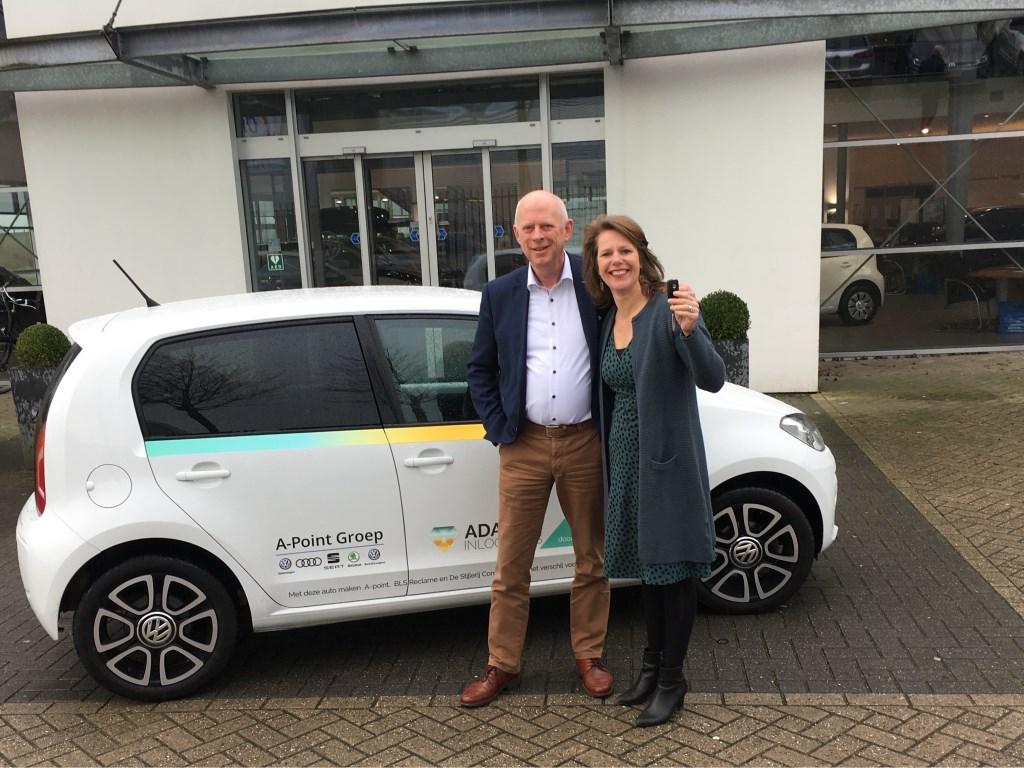 A-Point Groep sponsort Adamas met een Volkswagen Up. Adamas © BDU media