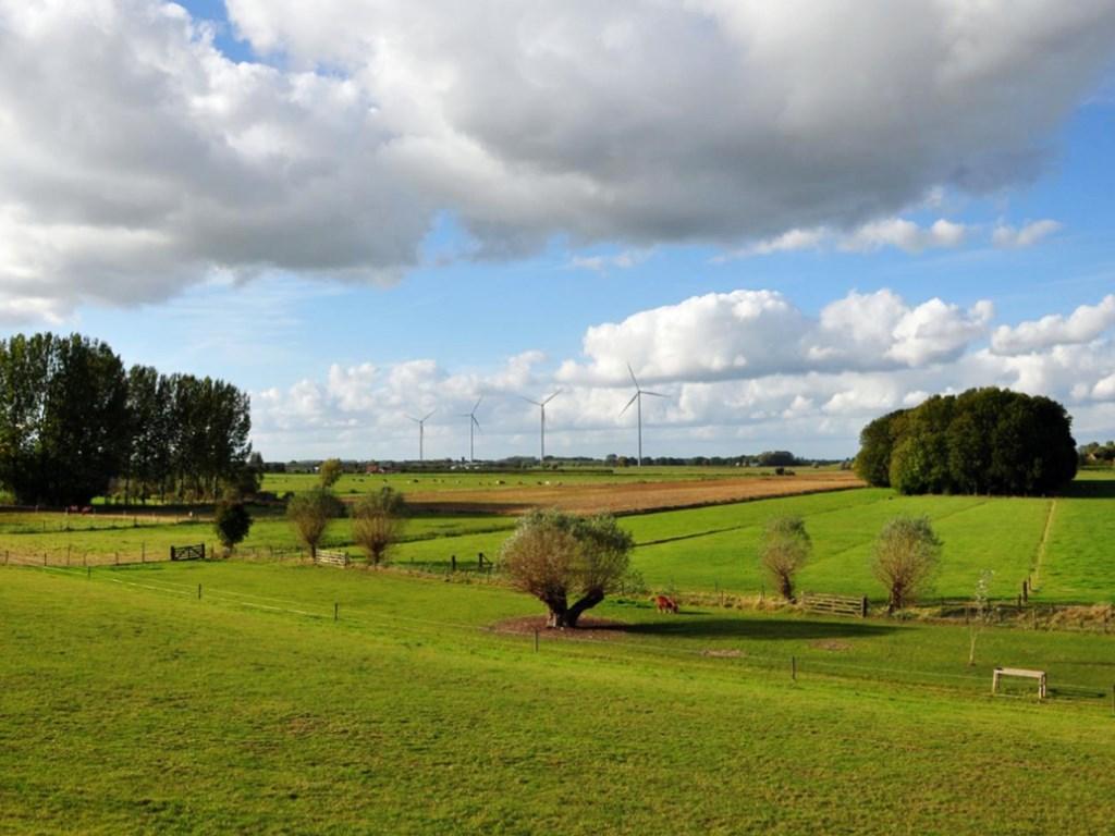 Een visualisatie van de 4 windmolens Goyerbrug vanuit de directe omgeving. Windpark Goyerbrug © BDU media