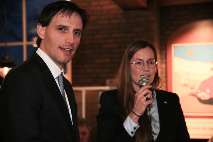 opening vragenuurtje door Andrea Oosting-Klock (organisator CDA Harderwijk-Hierden) Gert Morren © BDU media