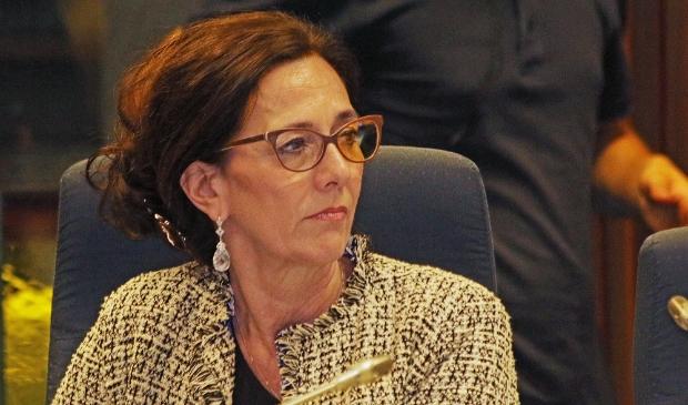 <p>Jacqueline H&ouml;cker tijdens een vergadering van de gemeenteraad.</p>