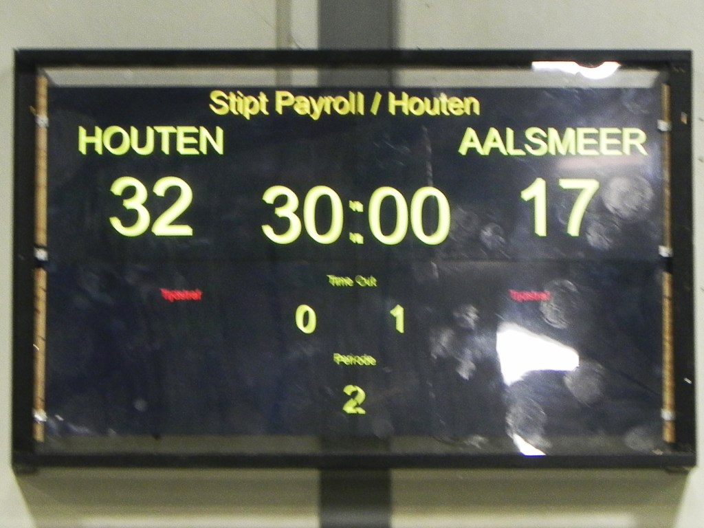De einduitslag staat op het scorebord. Richard Thoolen © BDU media