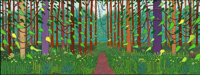 David Hockney, 'Het aanbreken van de lente in Woldgate, East Yorkshire in 2011 (tweeduizendelf)'