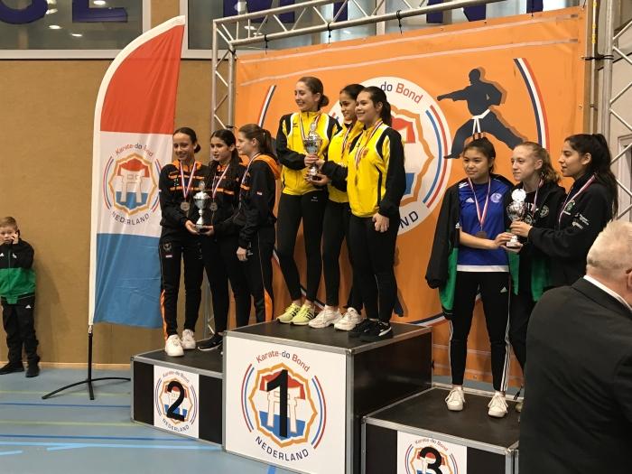 1e Plaats Teams meisjes onder 16 jaar