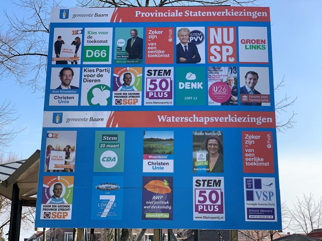 Woensdag 20 maart stemmen voor het waterschap en de provinciale staten.  Baarnsche Courant  © BDU media