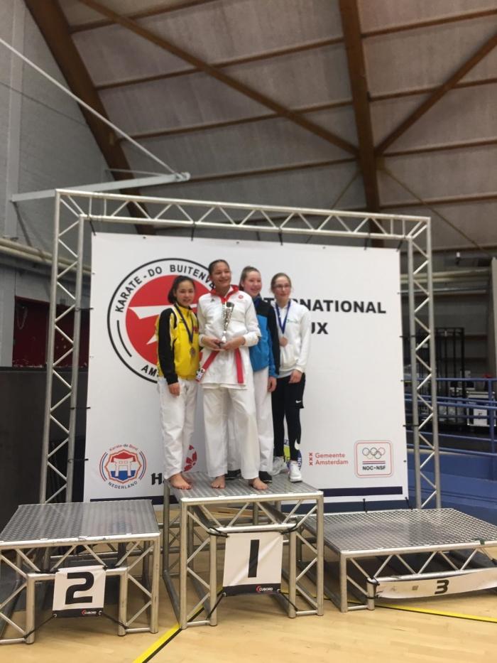 2e Plaats Naomi Pollmann U14 +47 kg PR Kenamju Karate © BDU media