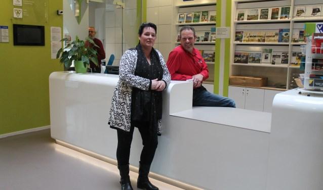 Baliecoördinator Hennie de Ruiter en voorzitter Sietse Hoogenberg.