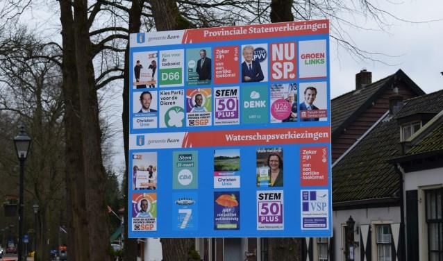 Een aantal landelijke partijen is zaterdag aanwezig op de Brink om voorbijgangers te informeren.