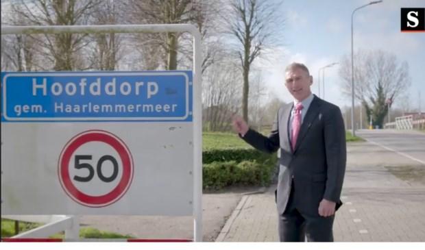 Beeld uit het fictieve campagnefilmpje van De Speld.