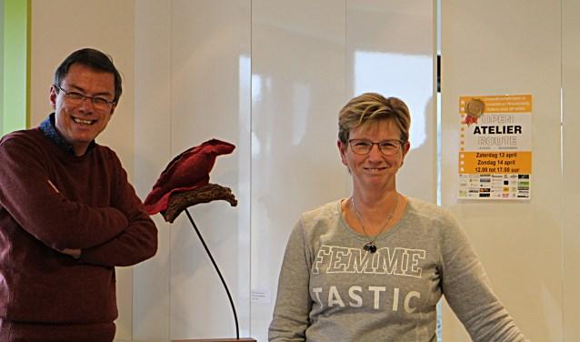 Aad Gordijn, Gerard Hilderink, Evelien Kooloos en Peter van Schaik organiseren de Open Atelier Route.