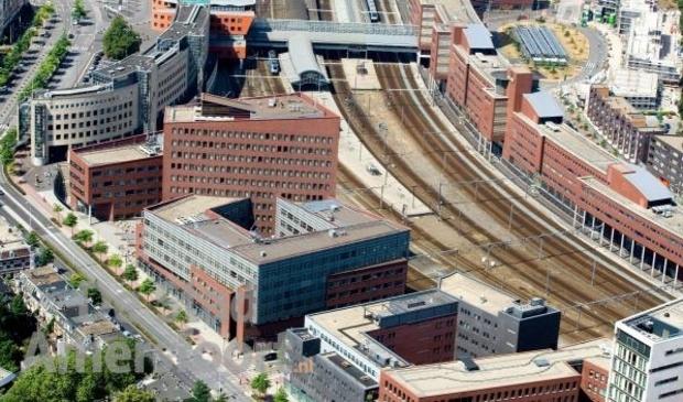 <p>Het Amersfoortse stationsgebied.</p>
