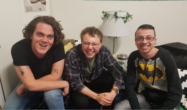 V.l.n.r Jordy, Noud en Maarten. Drie enthousiastelingen in gesprek over het LHBTI Café