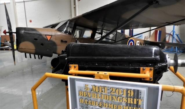 Het Auster verkenningsvliegtuig uit 1943 dat 5 mei op het Harmonieplein zal staan.