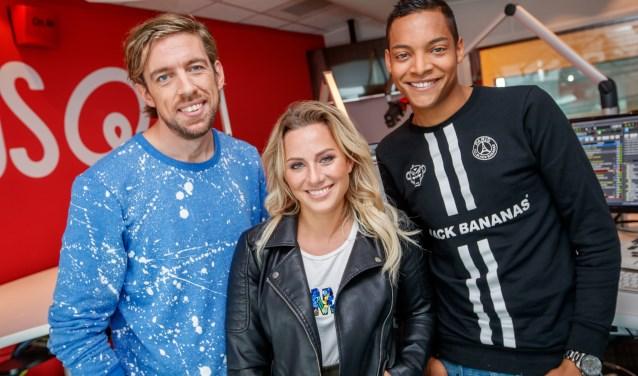 Mattie Valk, Fien Vermeulen en Igmar Felicia, het ochtendteam waarin Felicia begon bij Qmusic.