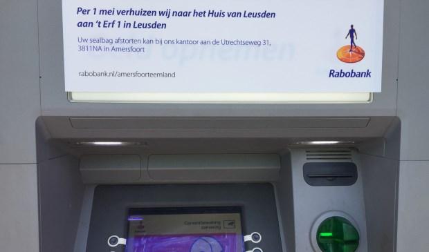 Deze berichtgeving bij de geldautomaat van de Rabobank is niet meer actueel.