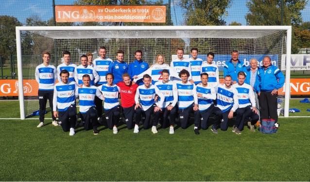 De selectie van SV Ouderkerk (zondag).
