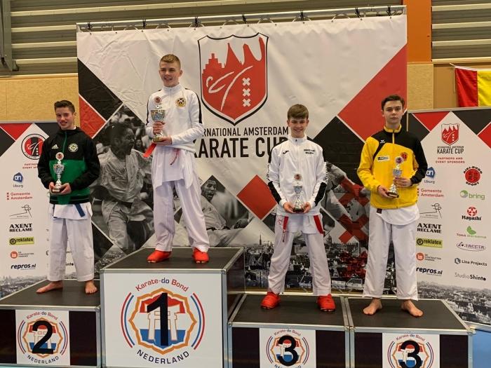 3e Plaats Sebastiaan van Teeffelen PR Kenamju Karate © BDU media