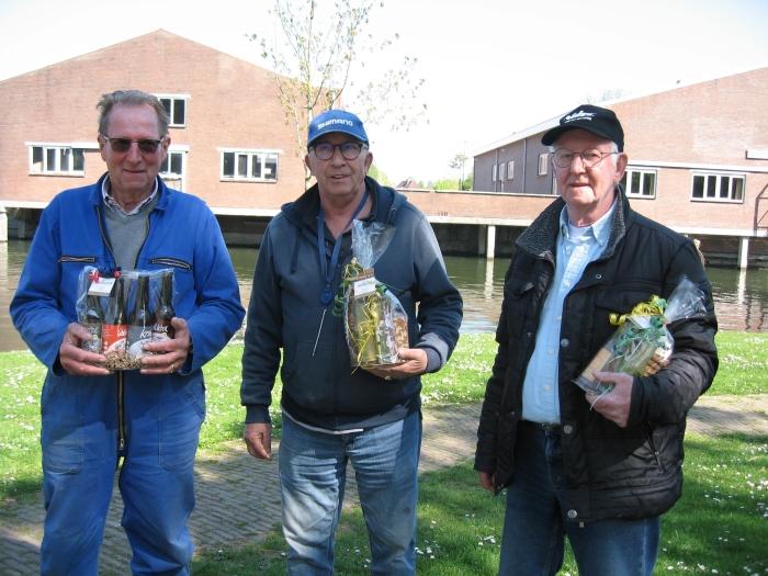 Paaswedstrijd 1e L.Kros, 2e D.v. Rijzewijk, 3e P. van Dijk
