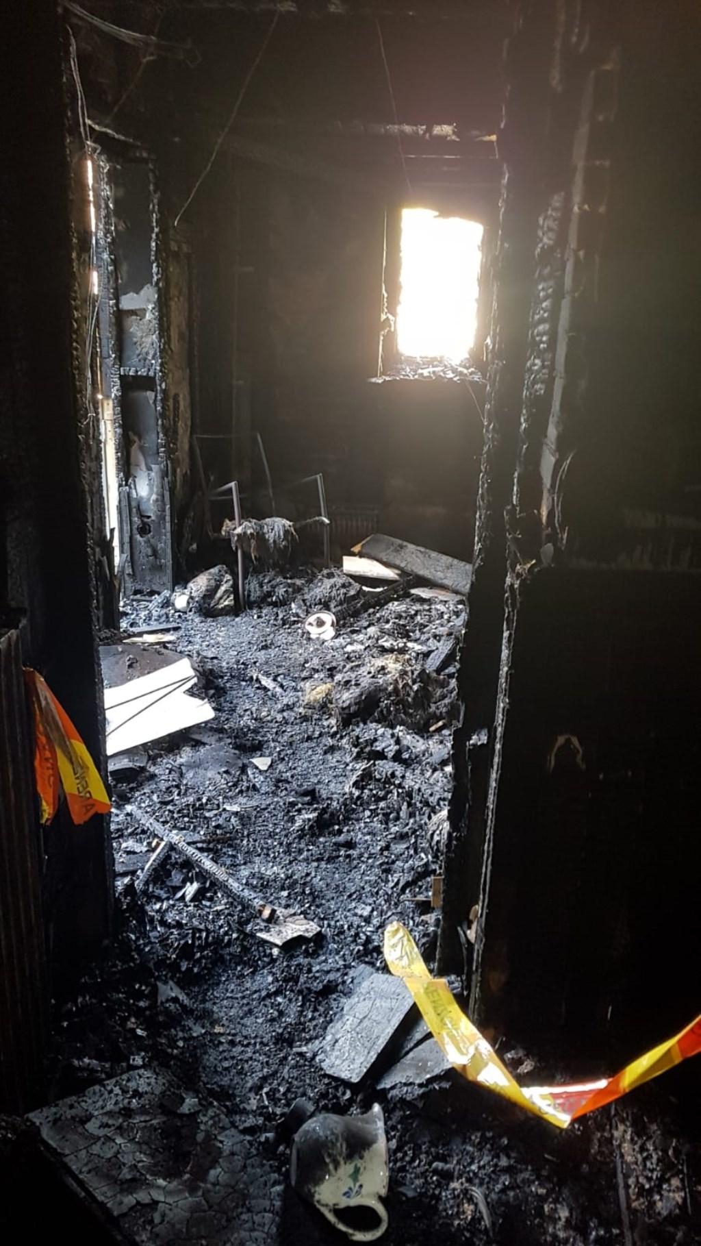 De inboedel is verwoest. Elroy van Gardingen © BDU media