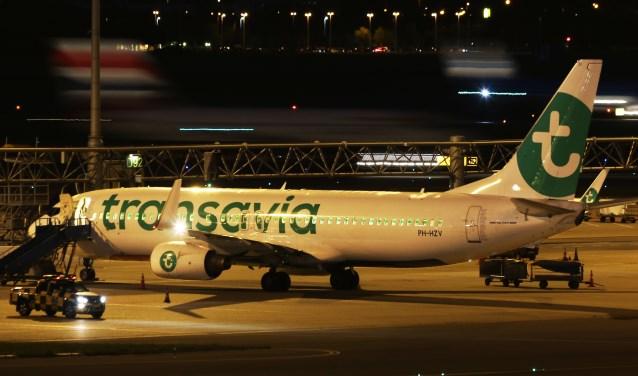 Transavia voert veel nachtvluchten uit vanaf Schiphol.