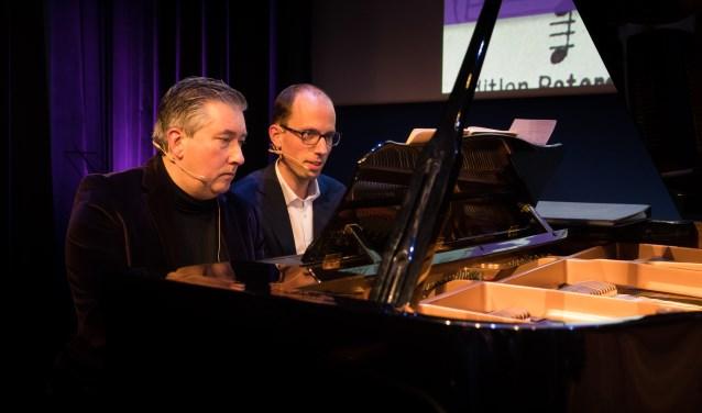 Herman Zondag (links) en Jaap Eilander gaven een masterclass over de Matthäus Passion.