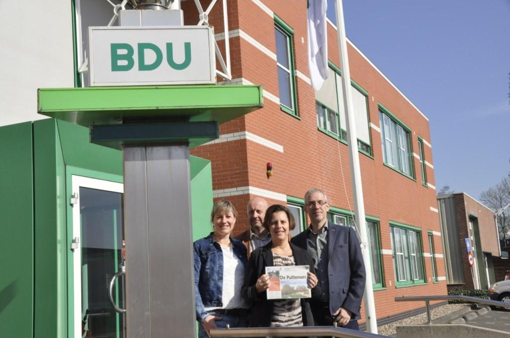 Van links naar rechts: eindredacteur Marieke Michielsen, media-adviseurs Lambert Broekhuis en Monique Jansen en Hoofd Content Nobert Witjes.