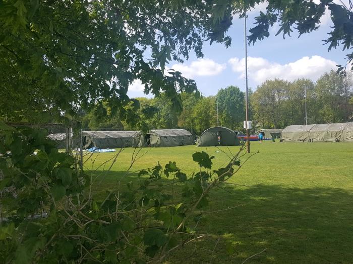 Een tentendorp op het veelbesproken Veld 5 Peter Beijer © BDU media