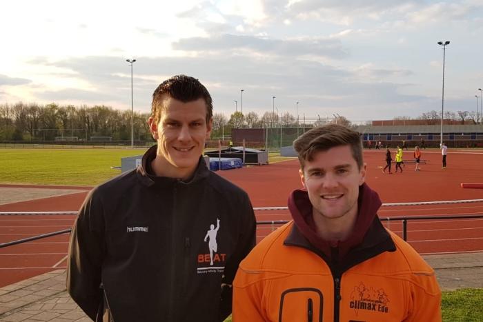 Jarno Beuving (links) en Maurits Brethouwer nieuwe trainersbegeleiders