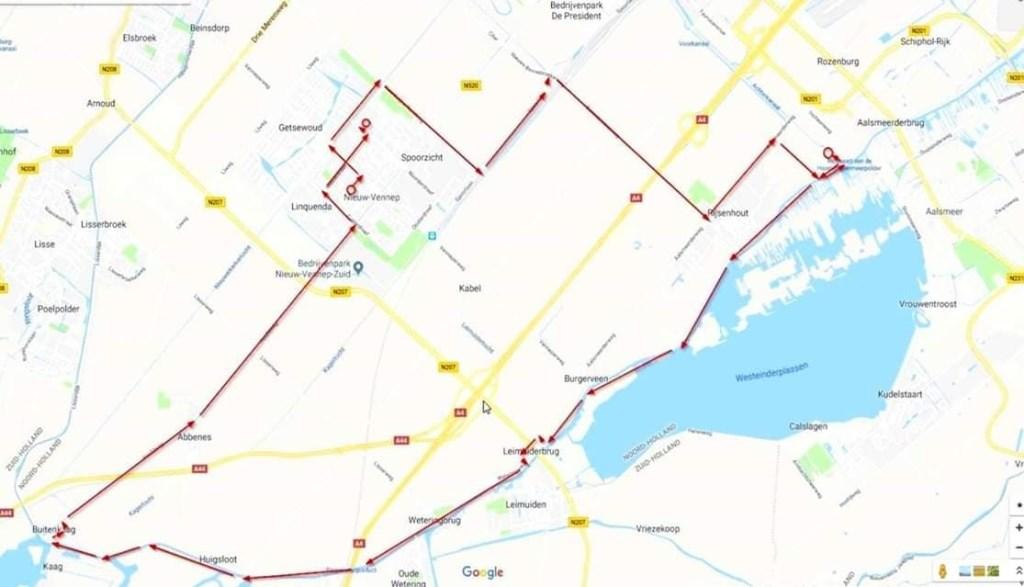 Route Bevrijdingscolonne. Crash Museum © BDU media