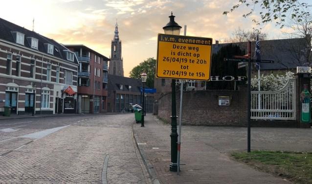 Sommige delen van de binnenstad zijn zaterdag afgesloten voor het verkeer.
