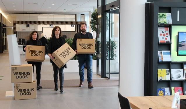 V.l.n.r.: Annemiek Lakrouz, Olav van Kampen en Annemarie Heijstek, Rabobank medewerkers uit marktteam Leusden
