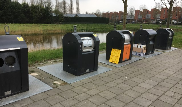Een van de zestien milieuparkjes in de gemeente: afvalscheiding, maar nog niet voldoende vergaand
