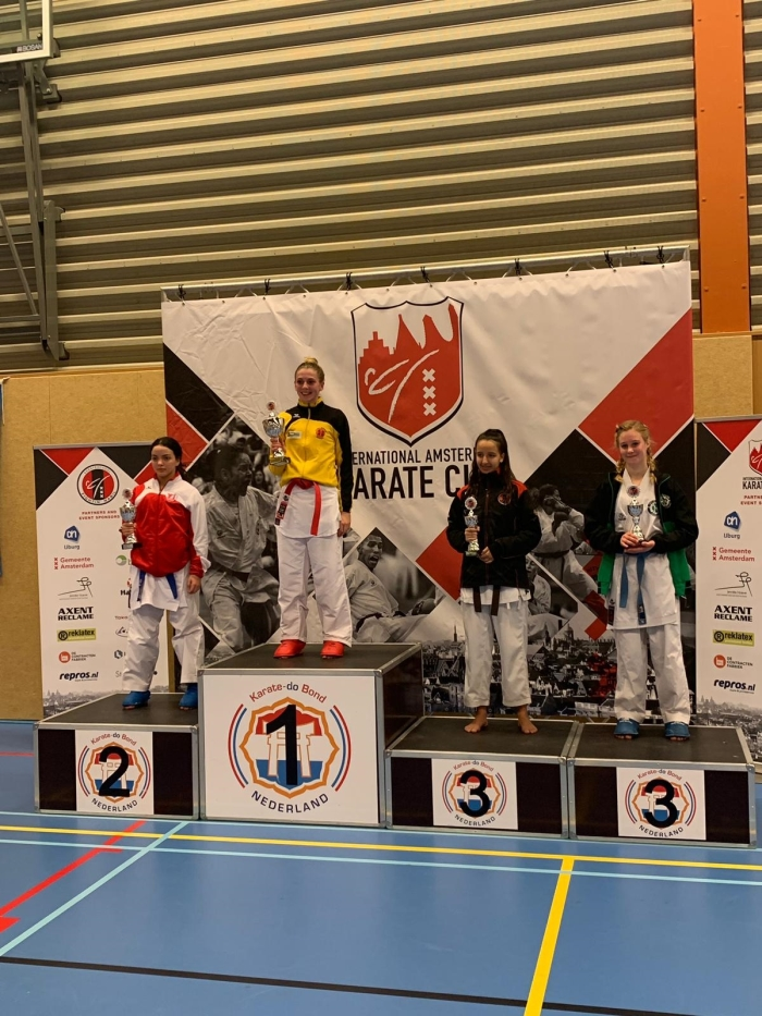 1e Plaats Nadine Hollander PR Kenamju Karate © BDU media