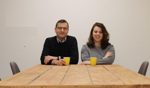 Makelaars Joost Beekman en Samantha Kras-Tankink.