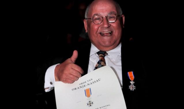 Blijdschap en dankbaarheid overheersen bij Gijs Zonnenberg na het ontvangen van een koninklijke ondedrscheiding.