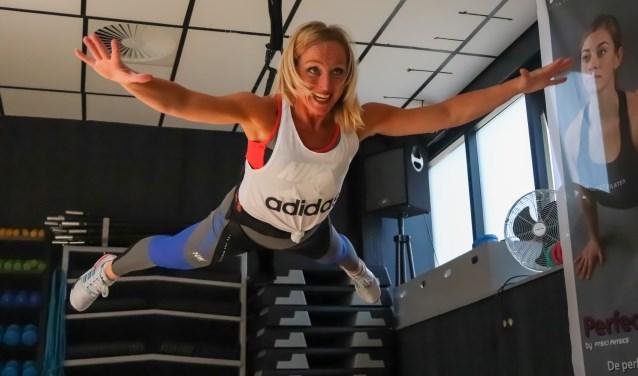 Laura Slotboom in actie tijdens Bungee Superfly
