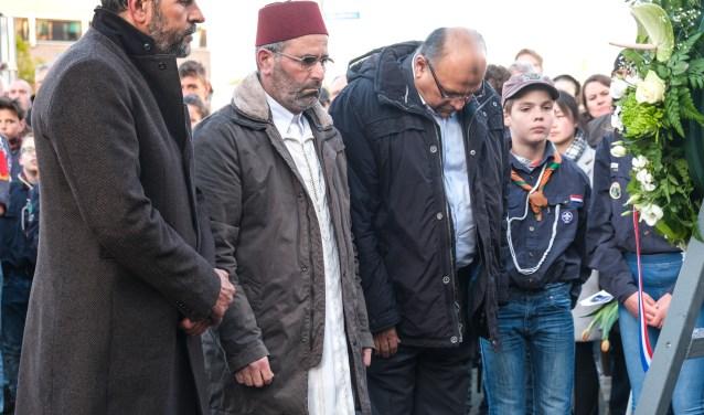 Islamisten bij Dodenherdenking het afgelopen weekeinde in Hoofddorp.