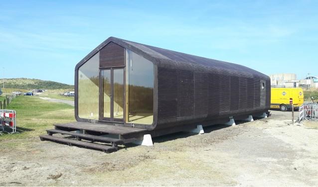Het Wikkelhuis van tijdelijke-Brak! aan het Kennemermeer/IJmuider strand.